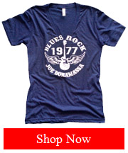 Women Blue 1977 Vintage TShirt
