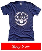 Women Blue 1977 Vintage T-Shirt